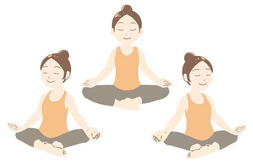 Yoga pose Meditation in Anza (no line)
