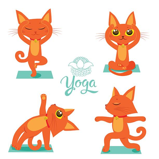 Yoga Pose Vector Gymnastics And Health Art Illustration
