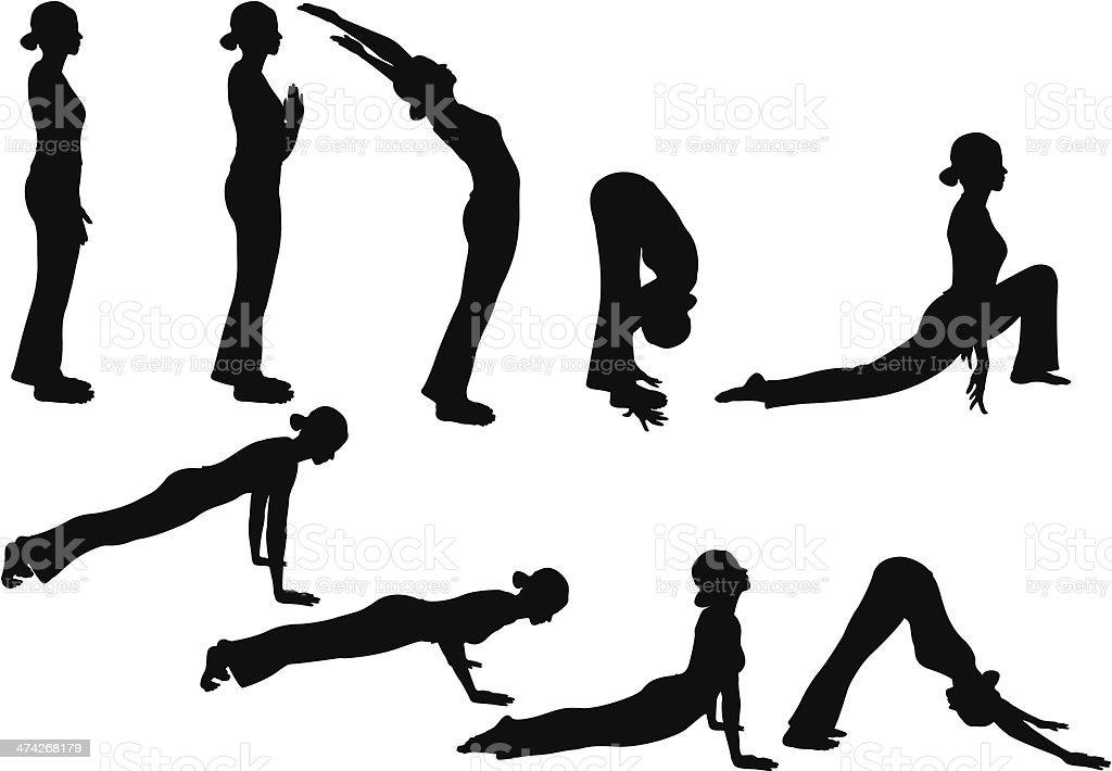 Yoga Pose royalty-free stock vector art