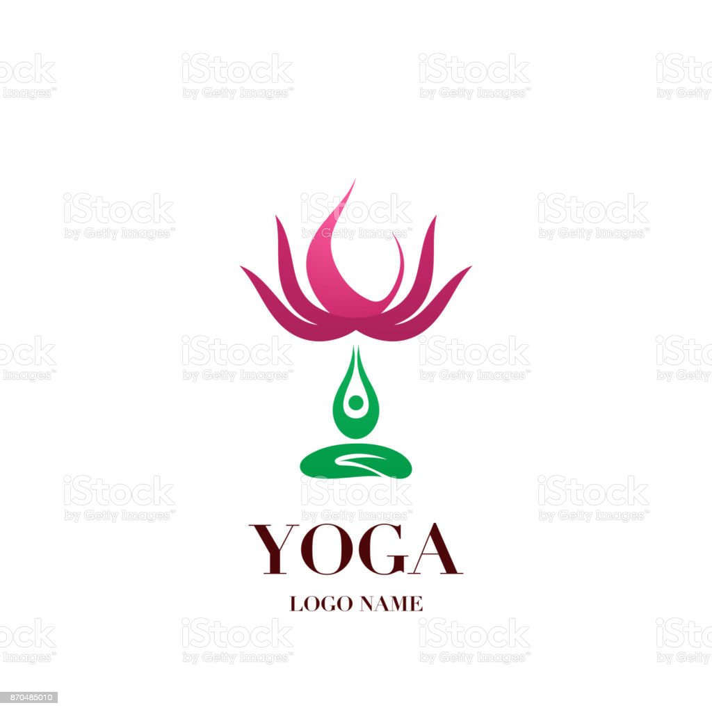 Yoga pose with lotus flower on the background icon abstract design yoga pose with lotus flower on the background icon abstract design vector illustration template royalty mightylinksfo