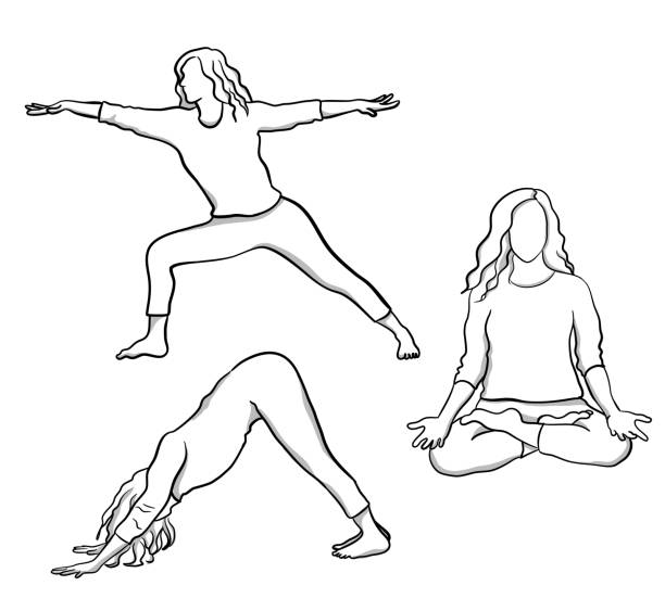 Yoga Posen A – Vektorgrafik