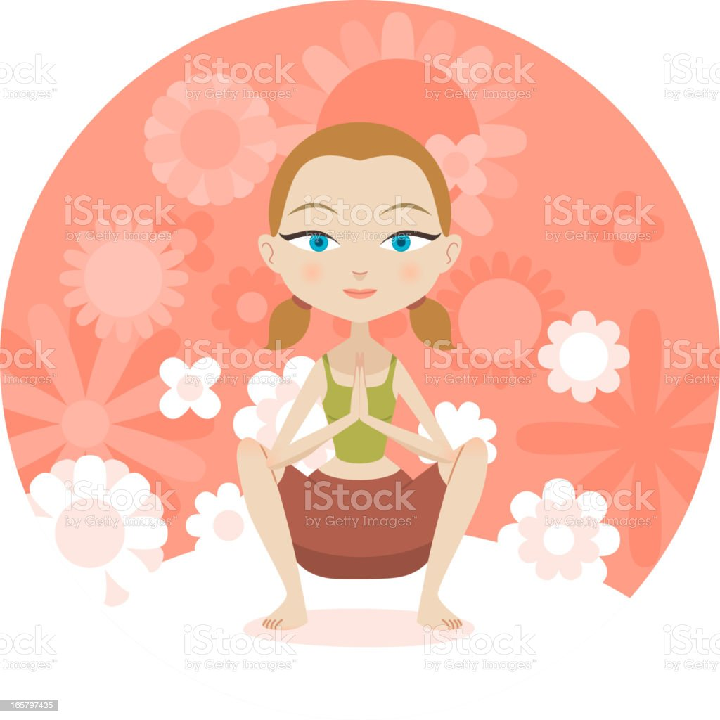 Yoga praying position royalty-free stock vector art