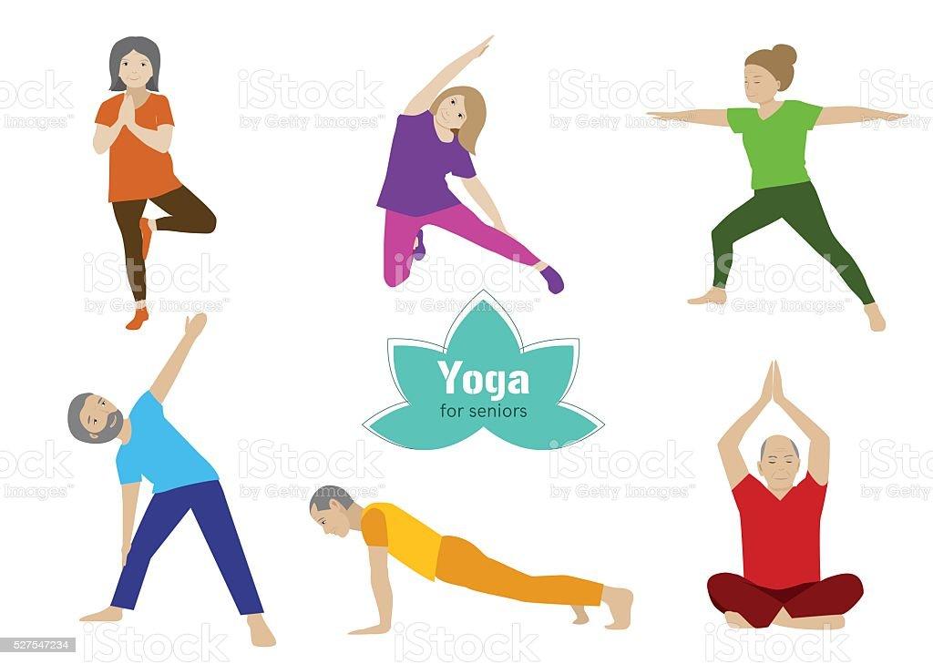 Exercice Des Personnes âgées Vieux Couples Et Gymnastique
