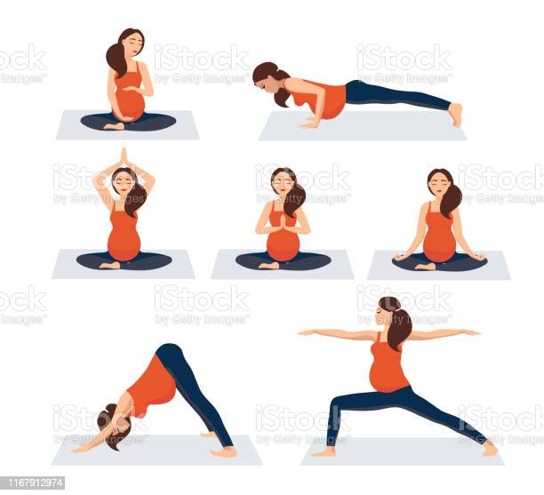 Pregnant Exercise Free Vector Art 16 Free Downloads