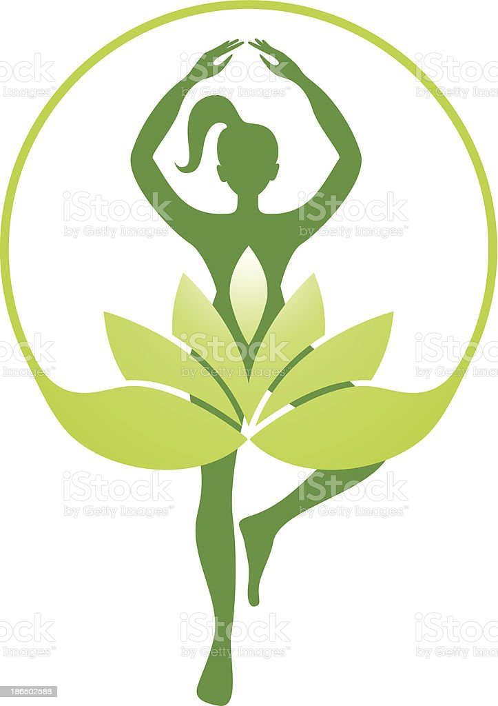 Yoga silhouette vector art illustration