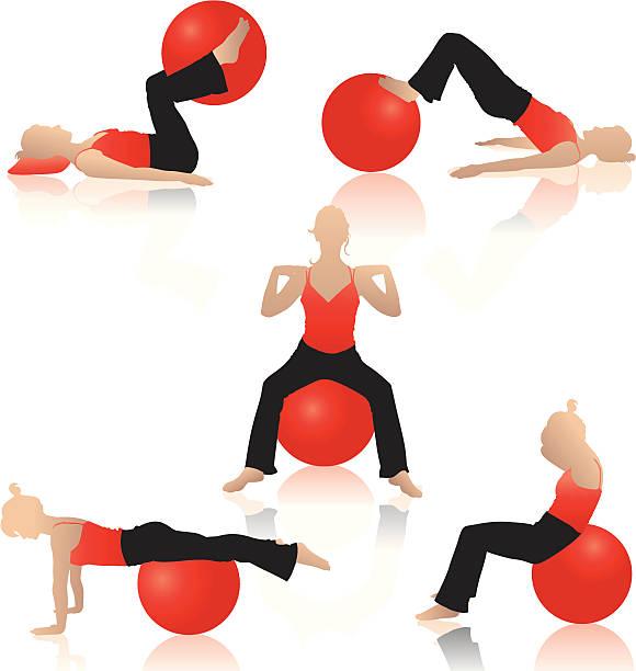 ilustrações, clipart, desenhos animados e ícones de silhueta de ioga - personal trainer