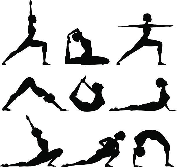 Yoga-Silhouette – Vektorgrafik