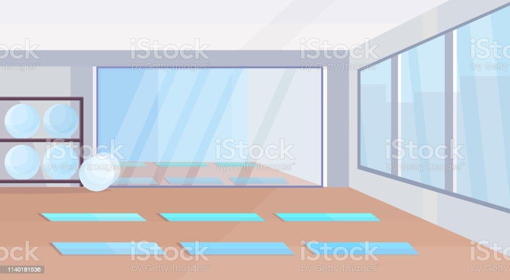 Empty yoga room clip art vector graphics and illustrations istock