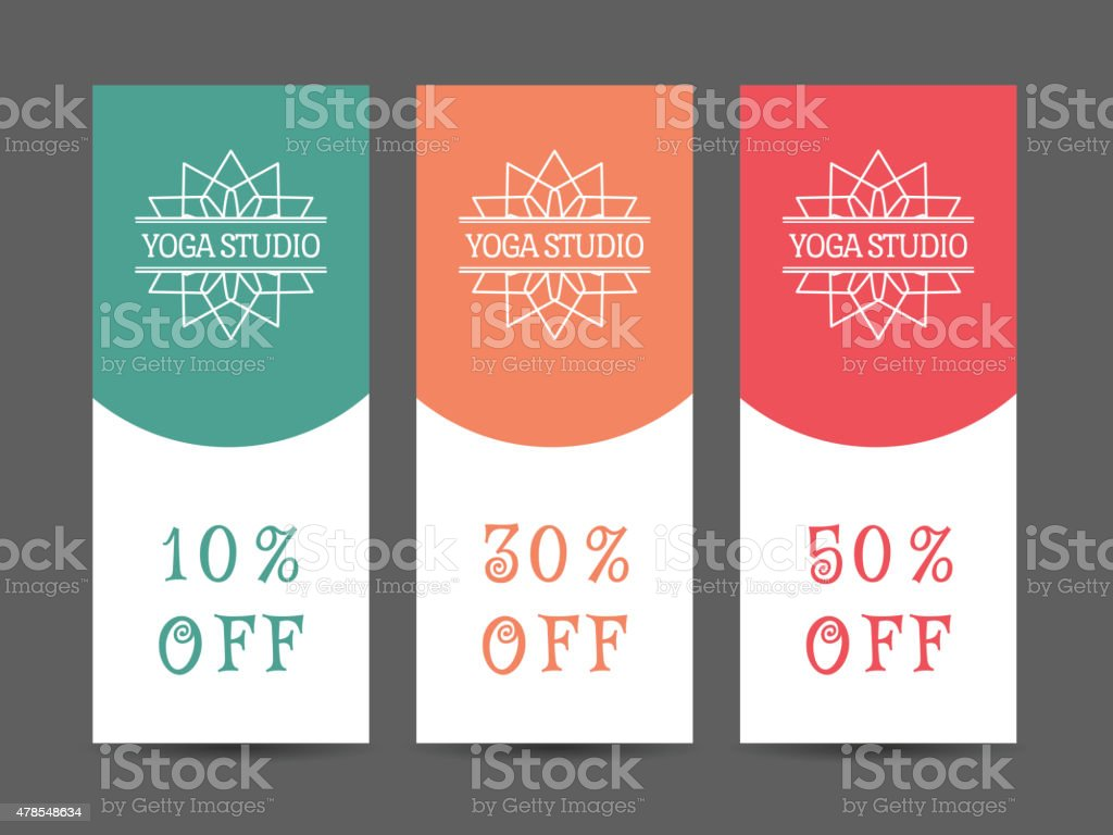 Yoga Studio Vector Discount Coupon Template Royalty Free Yoga Studio Vector  Discount Coupon Template Stock  Coupon Flyer Template