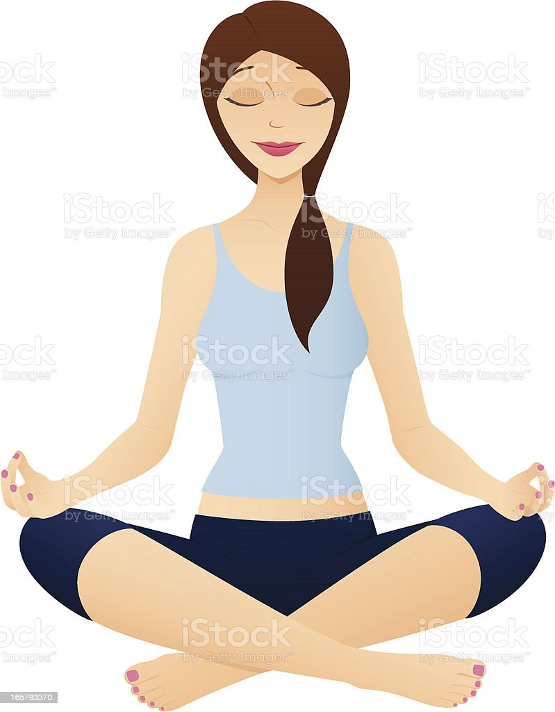 Yoga Sukhasana Pose royalty-free stock vector art