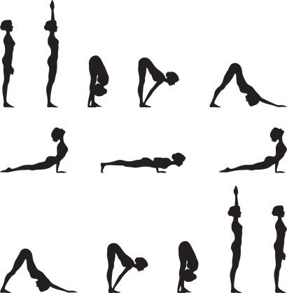 Yoga Sun Salutation Silhouette Series