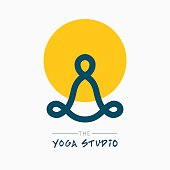 Yoga symbol with title for your design