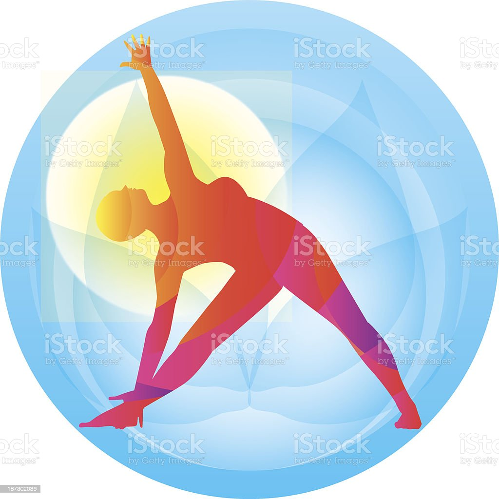 Yoga. Triangle pose royalty-free stock vector art