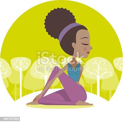 istock Yoga Twist Pose 165797935
