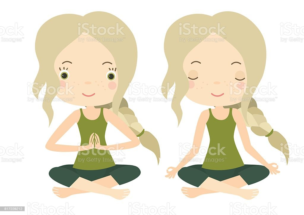 Yoga vector art illustration