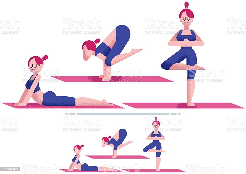 Yoga vector art illustration