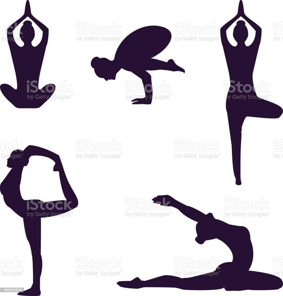 Yoga Lizenzfreies yoga stock vektor art und mehr bilder von bein - anatomiebegriff