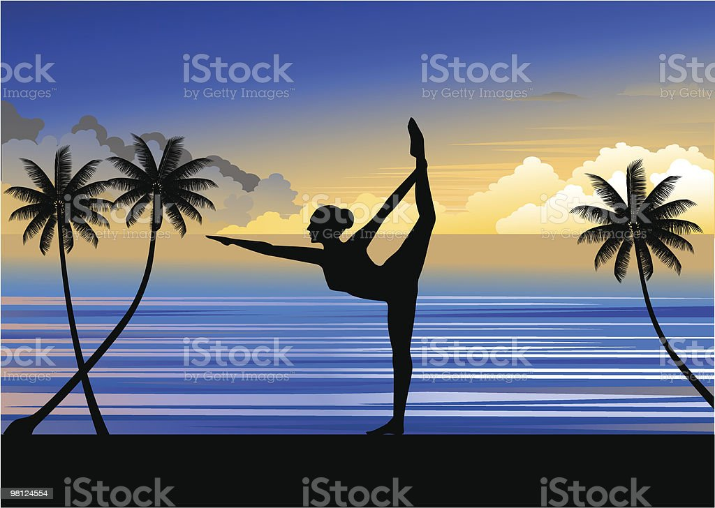 Yoga royalty-free yoga stock vector art & more images of aerobics