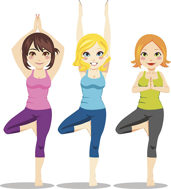 Royalty Free Tree Pose Yoga Clip Art, Vector Images ...