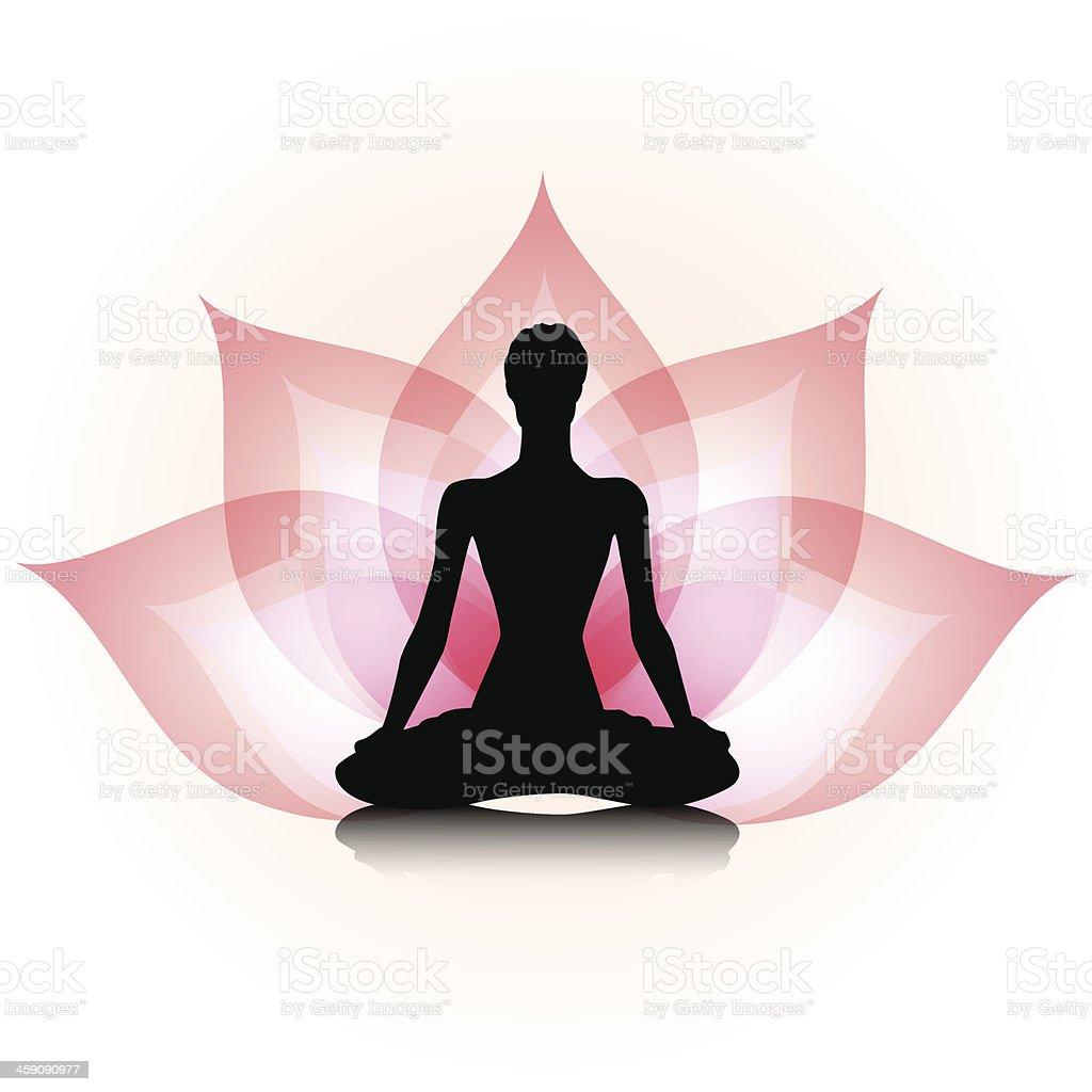 Yoga-lotus vector art illustration