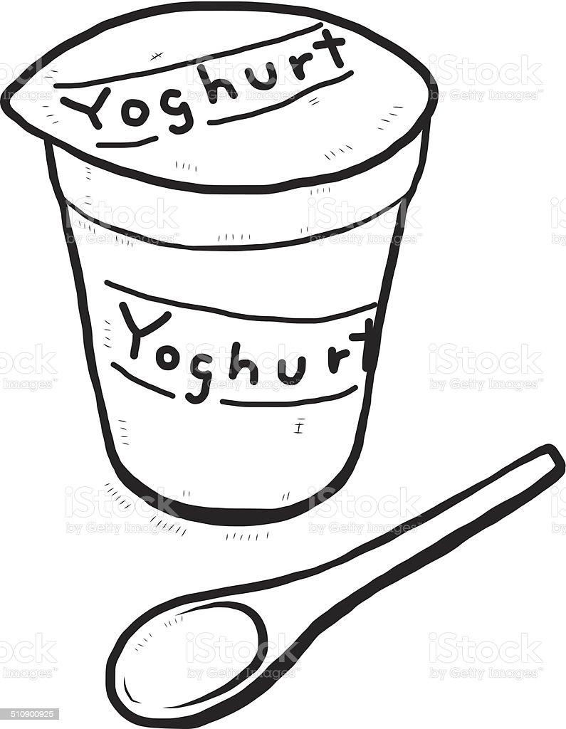 Yoghurt vector art illustration
