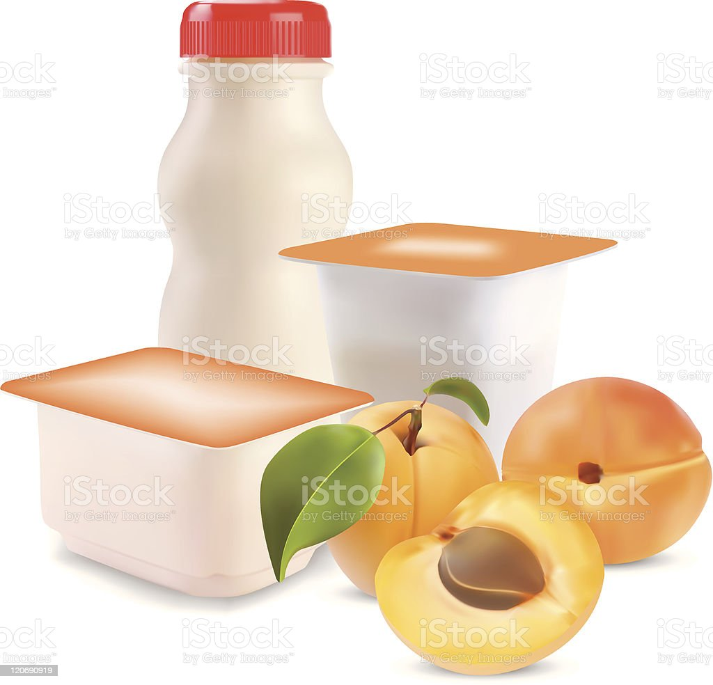 yogurt and apricot royalty-free yogurt and apricot stock vector art & more images of apricot