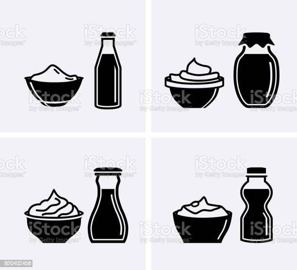 Yogurt container and cream bowl yogurt icons set vector id920402458?b=1&k=6&m=920402458&s=612x612&h=oxigmhexq2xmuso5f kkc7o or7byeai9r5sraudnme=