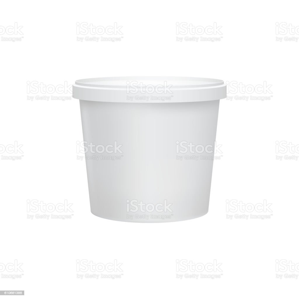 Yogurt container isolated on white background vector art illustration