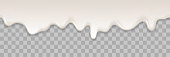 istock Yogurt creamy liquid or yoghurt cream melt splash flowing background. Vector white milk splash or ice cream flow soft texture on transparent background for sweet dessert design 910139016