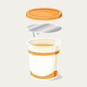 Yogurt pot components for re-cycling