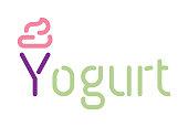 Yogurt - Typography Vector EPS File.
