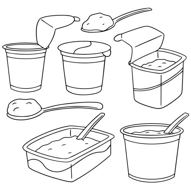 yogurt – artystyczna grafika wektorowa