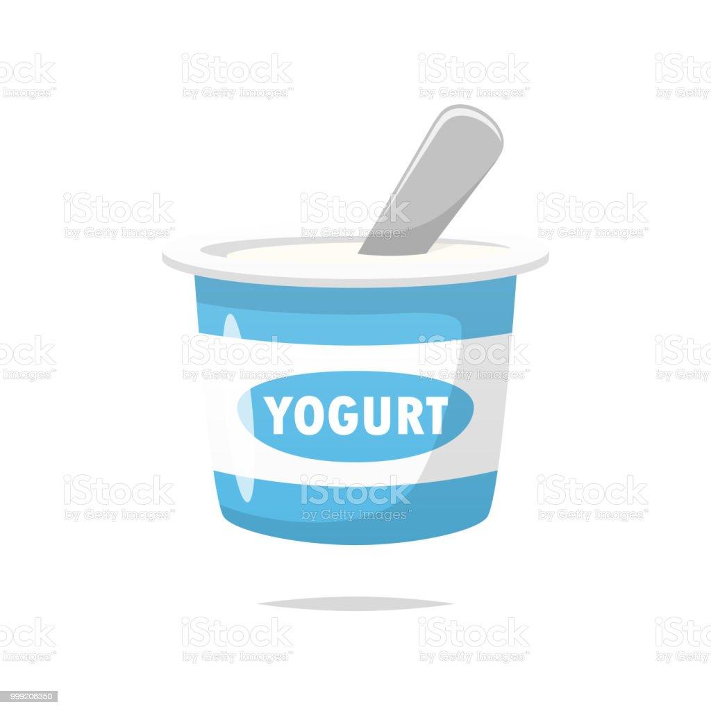 Yogurt vector isolated