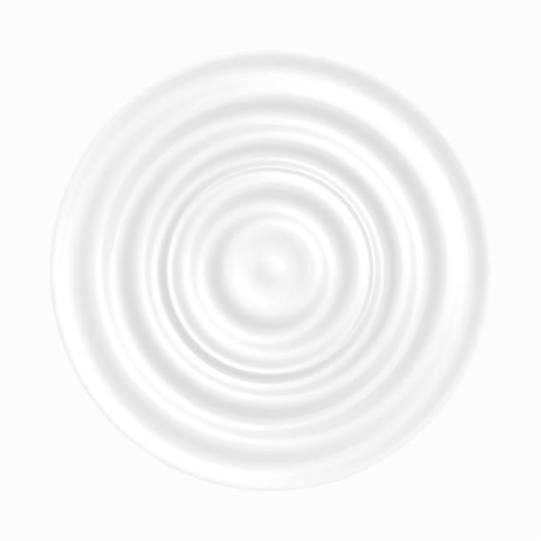 화이트 무스의 파도 요구르트, 과일 또는 장과 혼합된 낙농 제품 젤리, 제품 레이블 벡터 배경에 대 한 맛 있는 디저트. 광고에 대 한 맛 있는 우유 크림 텍스처 그림입니다. - 파문이 인다는 stock illustrations