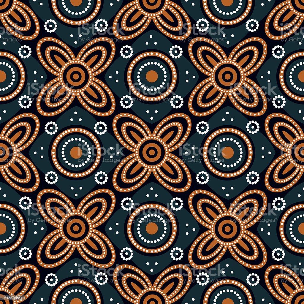 Yogyakarta batik motif Ceplok Grompol vector art illustration
