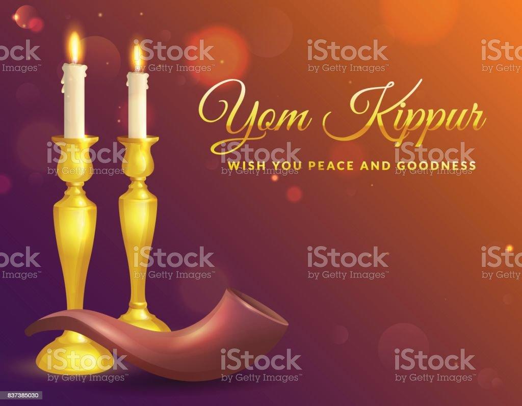 Ilustracin De Tarjeta De Felicitacin De Yom Kippur Y Ms Banco De