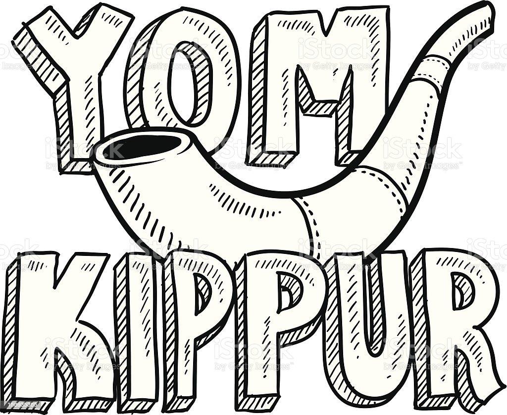 Uncategorized Yom Kippur Coloring Pages yom kippour vecteurs et illustrations libres de droits istock faates juives croquis illustration vectorielle