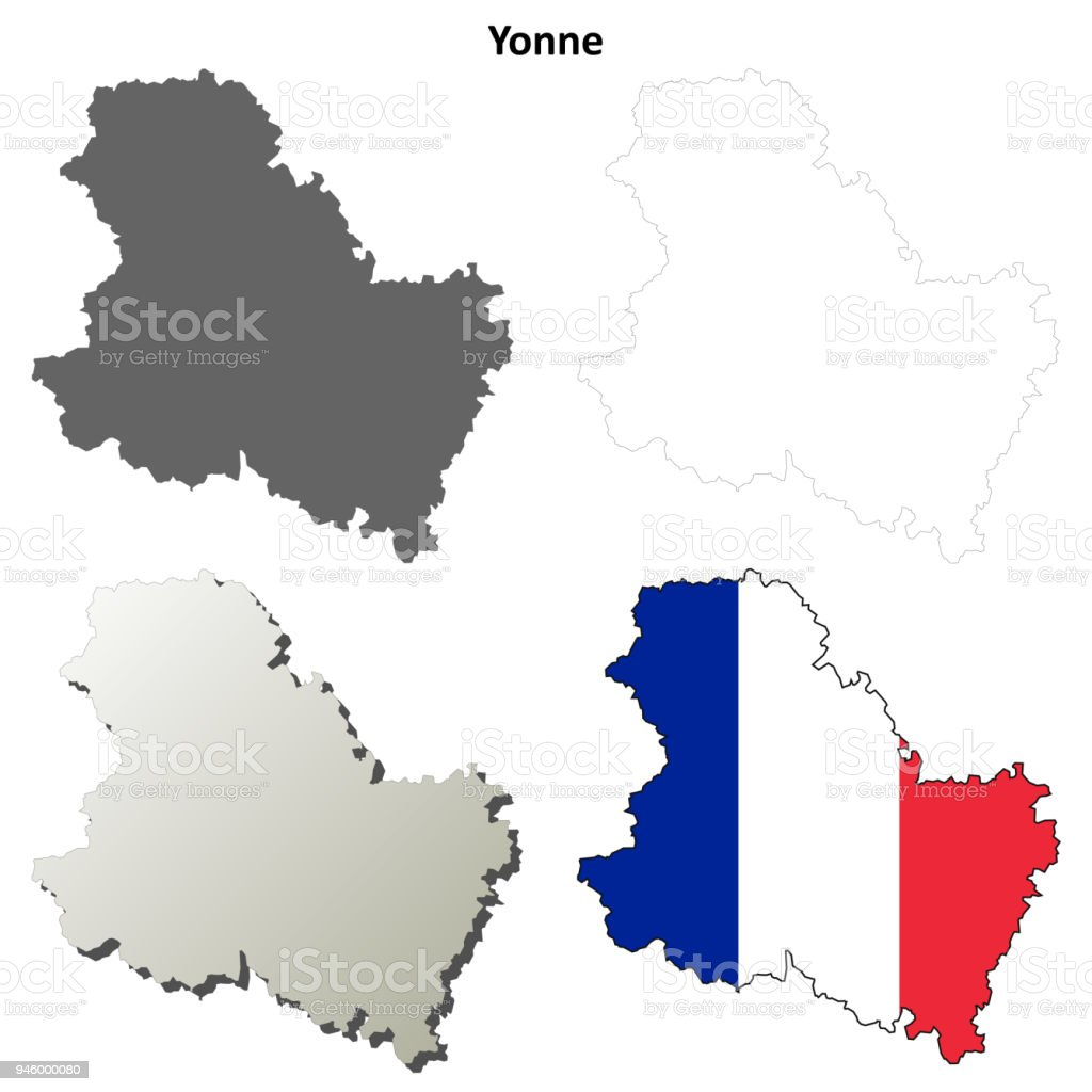 Map Of Yonne France.Yonne Burgundy Outline Map Set Stock Vector Art More Images Of