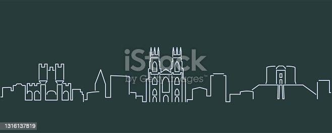 istock York Single Line Skyline Profile 1316137819