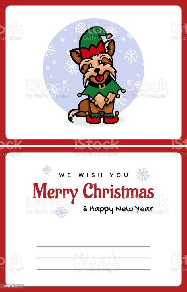 yorkshire terrier little assistant santa royalty-free yorkshire terrier little assistant santa stock vector art & more images of animal
