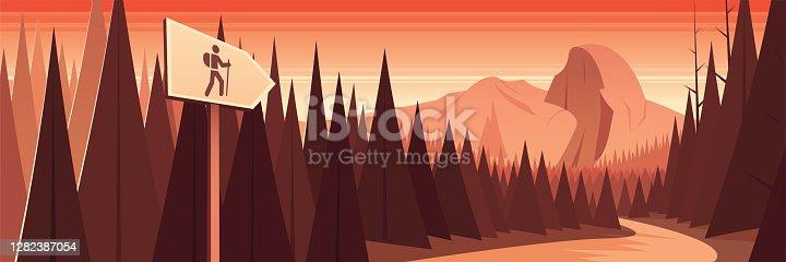 Yosemite National Park Scene Panoramic Banner