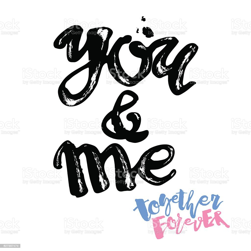 You And Me Together Forever Stock Vector Art More Images Of Banner