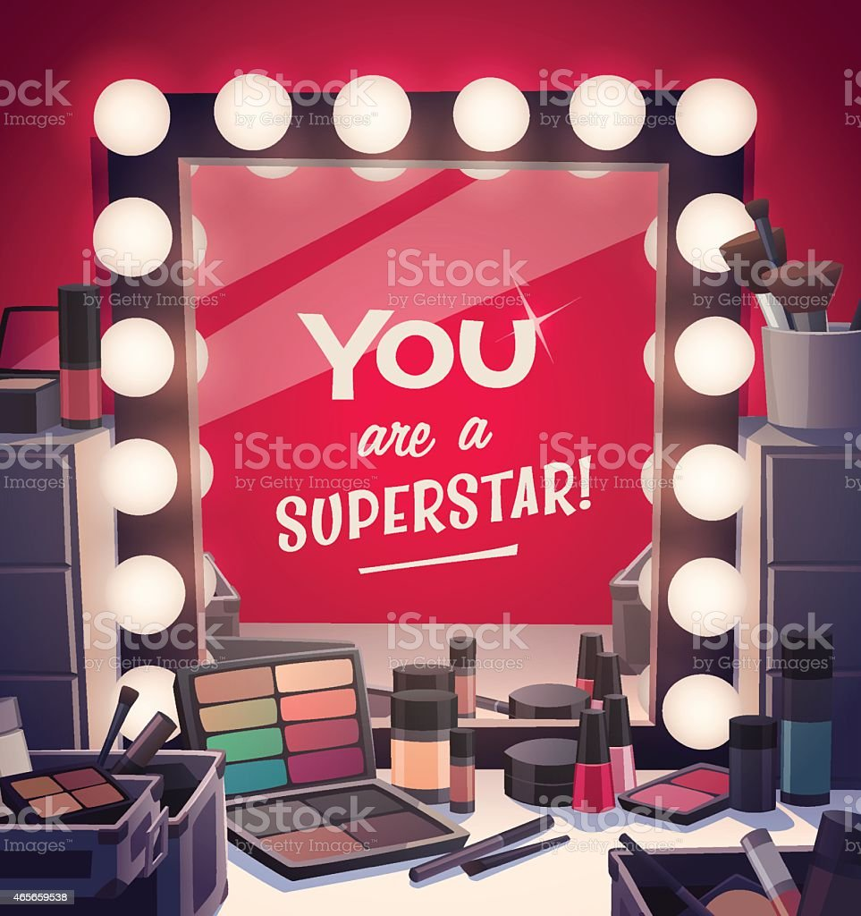 You are a superstar! vector art illustration