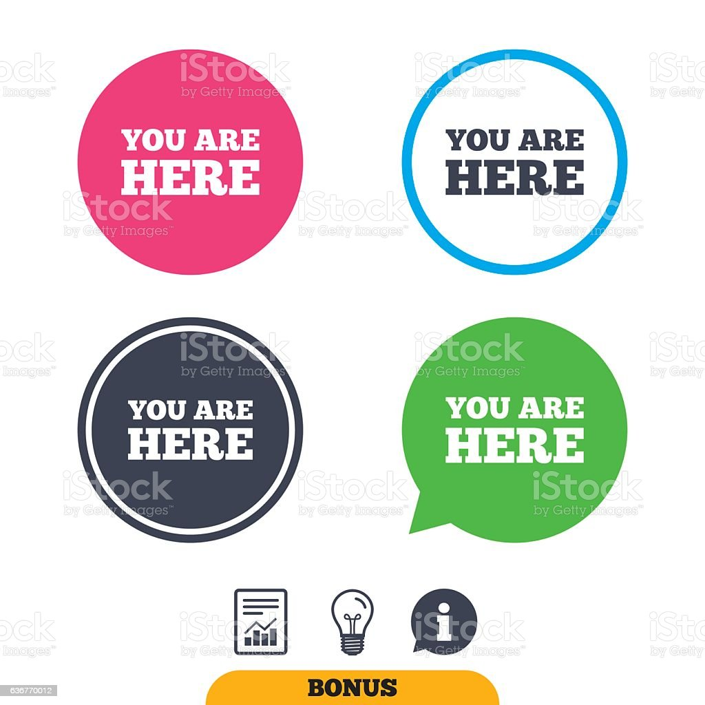 You Are Here Sign Icon Info Text Symbol Stock Vector Art More