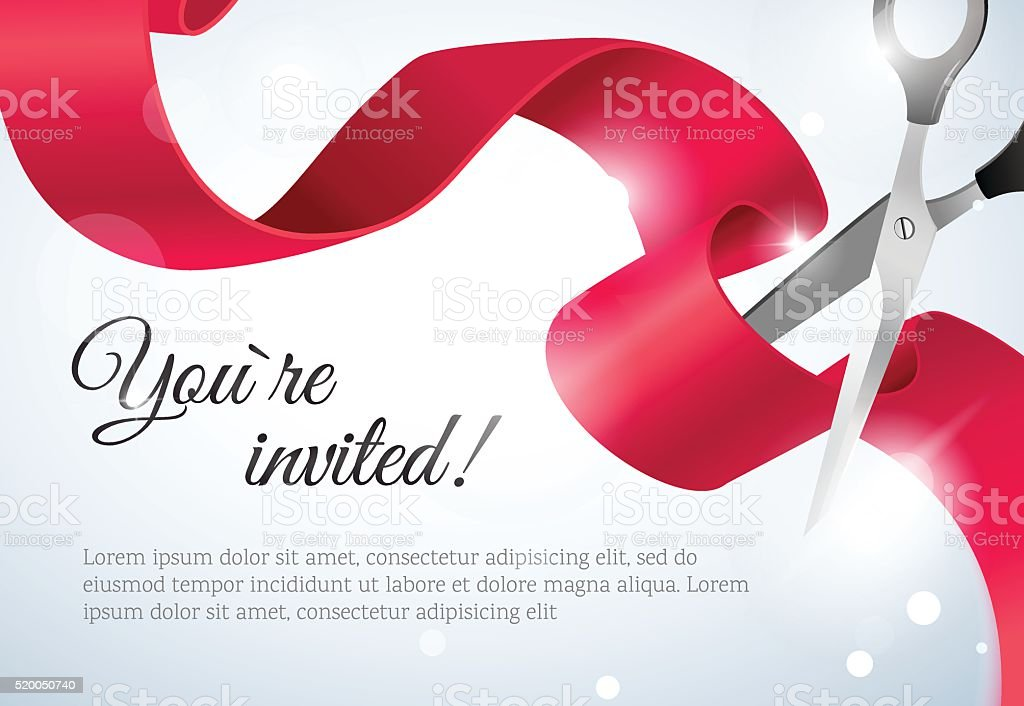 You Are Invited Invitation Card Grand Opening stock vector art – Grand Opening Invitation Cards