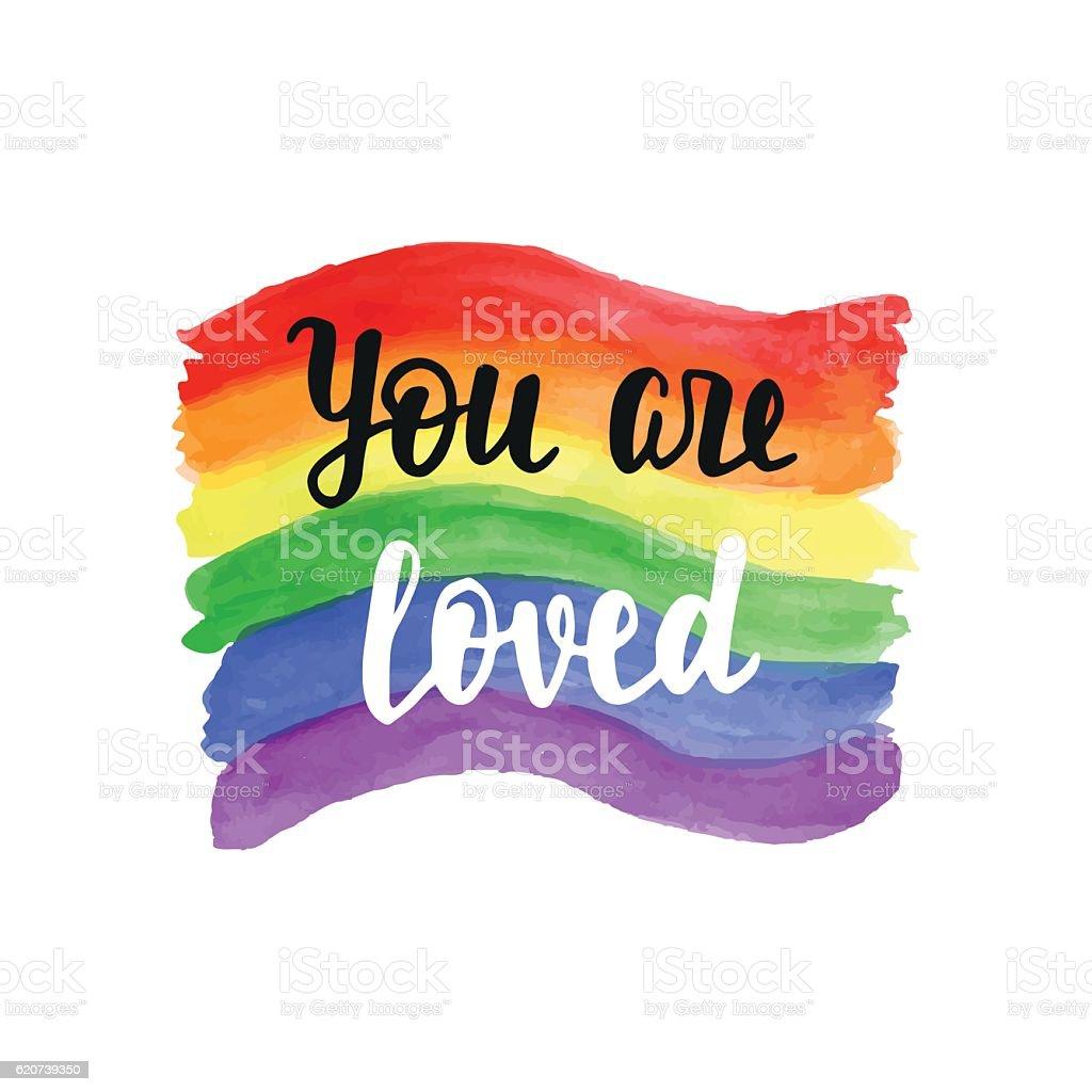 You are loved badge - ilustración de arte vectorial