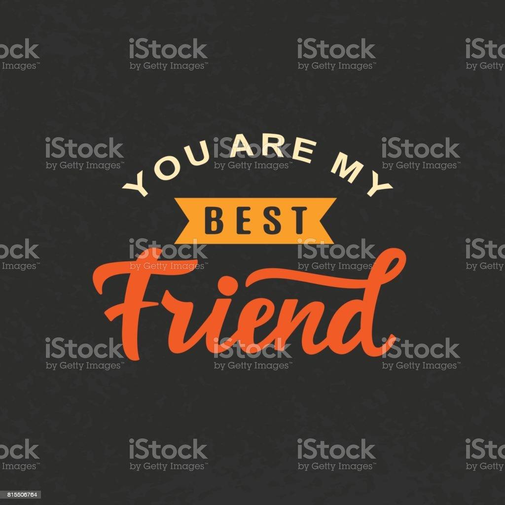 Du Bist Mein Bester Freund Freundschaft Tag Niedlichen Poster Stock ...