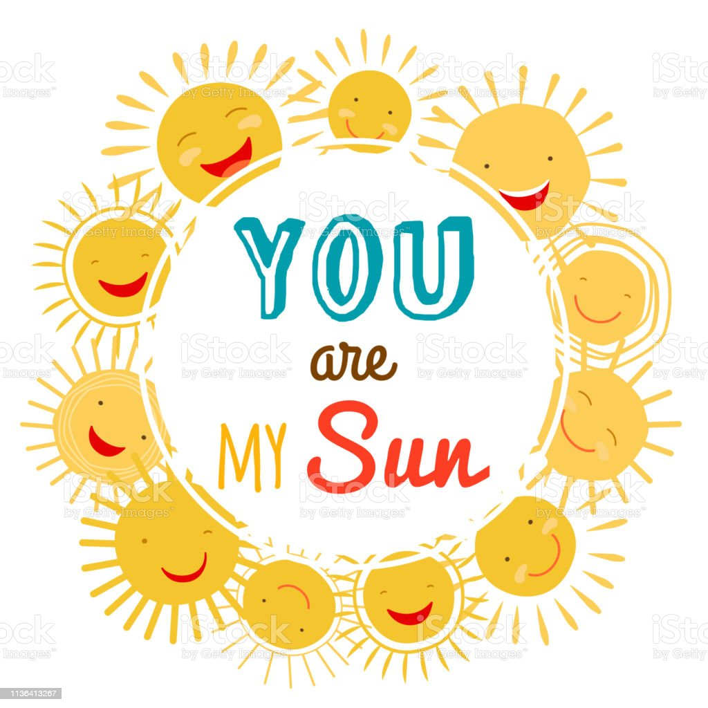 image about Sun Printable named By yourself Are My Solar Printable Vector Banner With Cartoon
