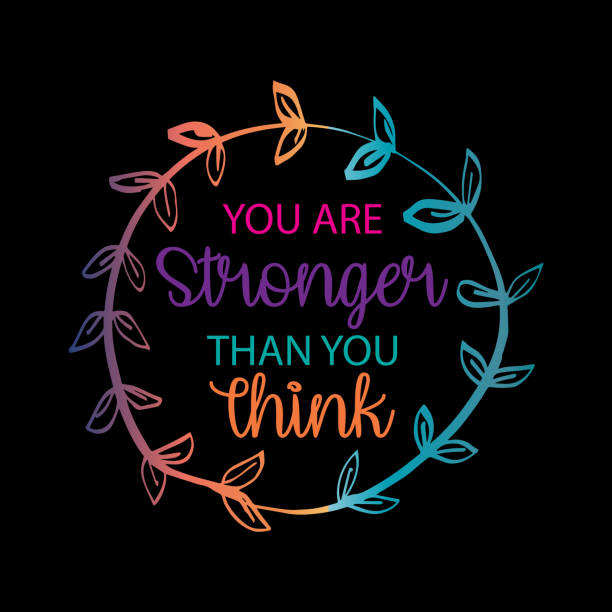 You Are Stronger than you Think. Hand drawn typography poster. You Are Stronger than you Think. Hand drawn typography poster. motivation stock illustrations