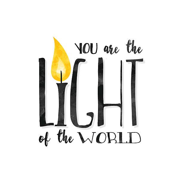 you are the light of the world! - buchstabenschreibweise stock-grafiken, -clipart, -cartoons und -symbole